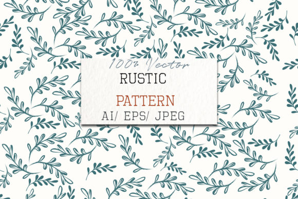 Rustic Vector Floral Pattern Soft Colors Graphic Patterns By fleurartmariia