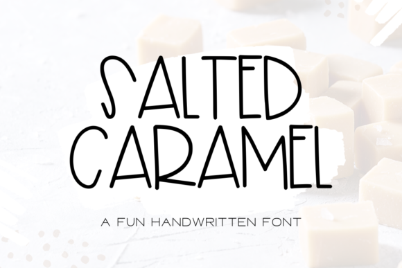 Print on Demand: Salted Caramel Script & Handwritten Font By WritingRivers