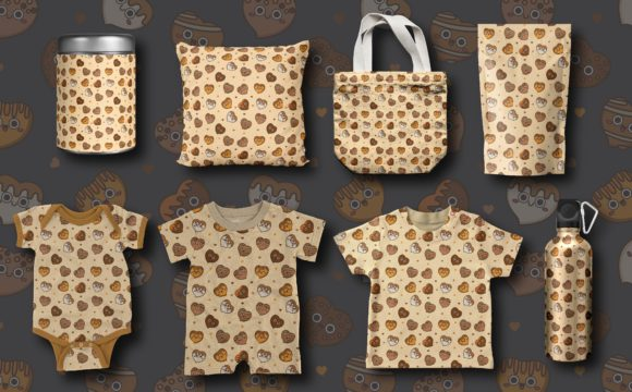 Download Free Seamless Pattern Cute Chocolate Graphic By Bayu Baluwarta for Cricut Explore, Silhouette and other cutting machines.