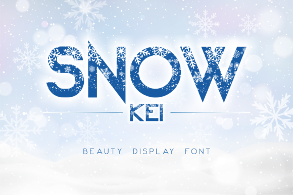 Print on Demand: Snow Kei Display Schriftarten von arukidz.fl