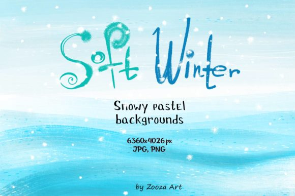 Print on Demand: Soft Winter Snowy Backgrounds Graphic Backgrounds By Zooza Art