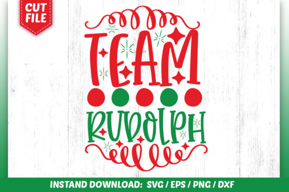 Download Free Team Rudolph Graphic By Subornastudio Creative Fabrica for Cricut Explore, Silhouette and other cutting machines.