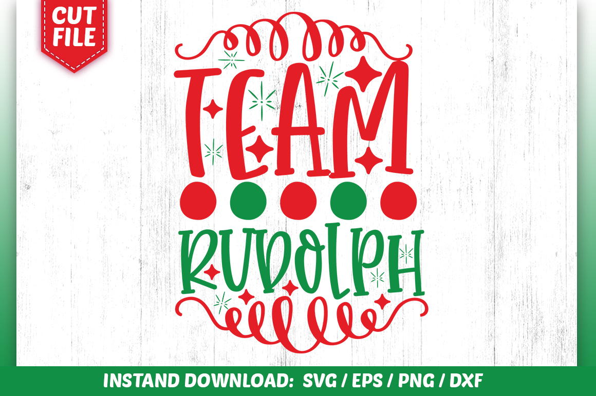 Download Free Team Rudolph Svg Design Graphic By Subornastudio Creative Fabrica for Cricut Explore, Silhouette and other cutting machines.