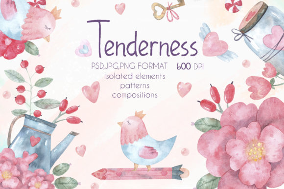 Print on Demand: Tenderness Graphic Illustrations By VashaRisovasha - Image 1
