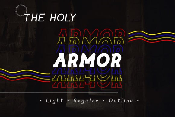 Print on Demand: The Holy Armor Serif Font By Dawn Studio