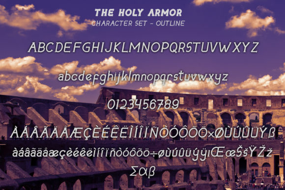 The Holy Armor Font Design