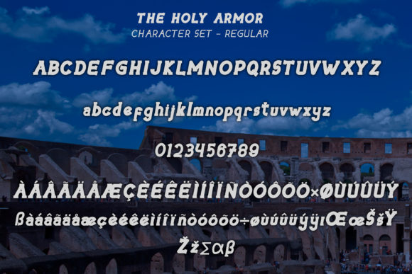 The Holy Armor Font Preview