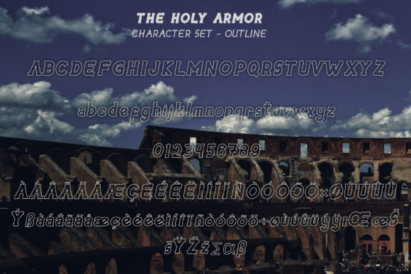 The Holy Armor Font Image