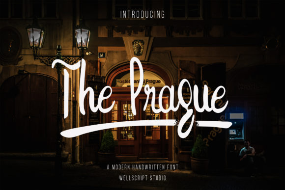 Print on Demand: The Prague Script & Handwritten Font By wellscriptstudio