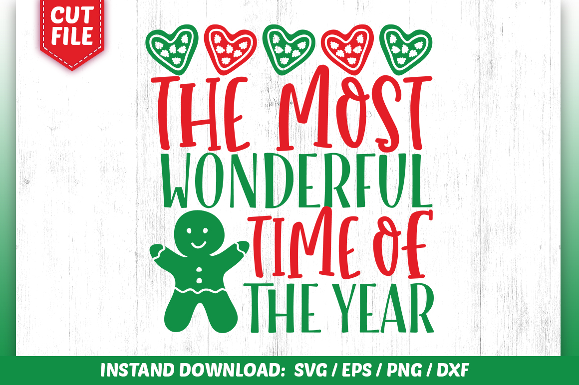 Download Free The Most Wonderful Time Of The Year Svg Creative Fabrica for Cricut Explore, Silhouette and other cutting machines.