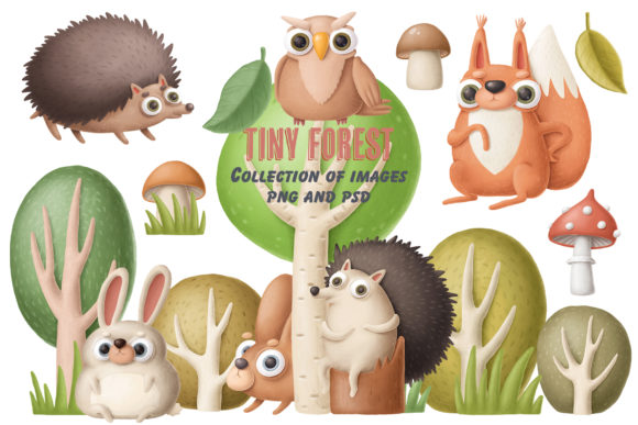 Print on Demand: Tiny Forest Collection of Images Graphic Illustrations By Architekt_AT