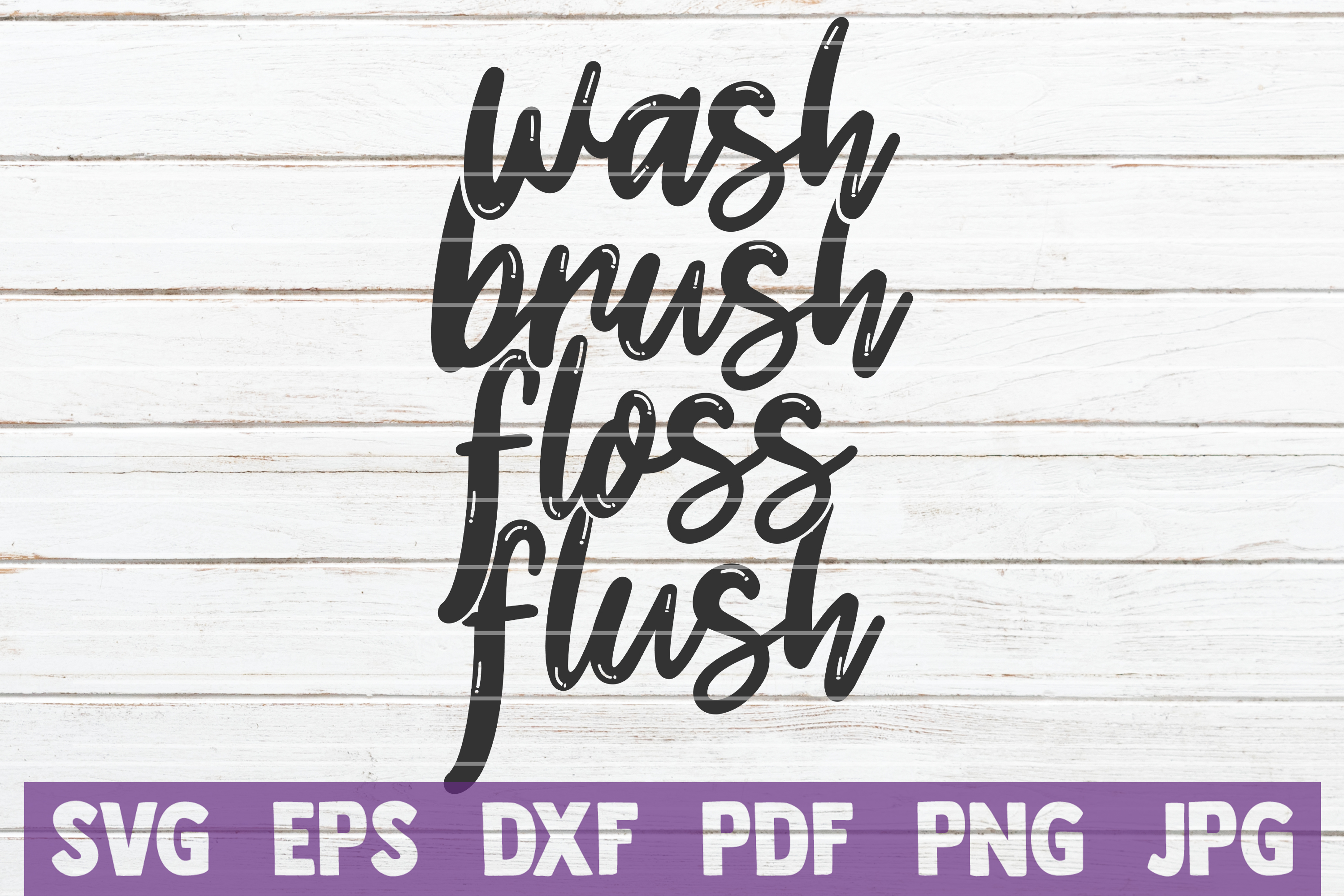 Download Free Wash Brush Floss Flush Graphic By Mintymarshmallows Creative for Cricut Explore, Silhouette and other cutting machines.