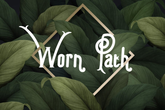 Print on Demand: Worn Path Display Font By BELOVE STUDIO