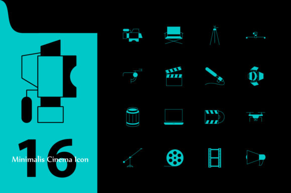 Print on Demand: Cinema Icon Graphic Icons By InDhika