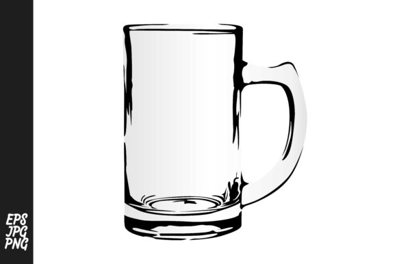 Print on Demand: Drinking Glass Vector PNG Graphic Crafts By Arief Sapta Adjie