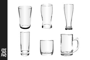 Download Free Drinking Glass Vector Bundle Graphic By Arief Sapta Adjie for Cricut Explore, Silhouette and other cutting machines.