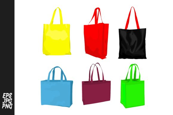Print on Demand: Shopping Bag Vector PNG Bundle Graphic Crafts By Arief Sapta Adjie
