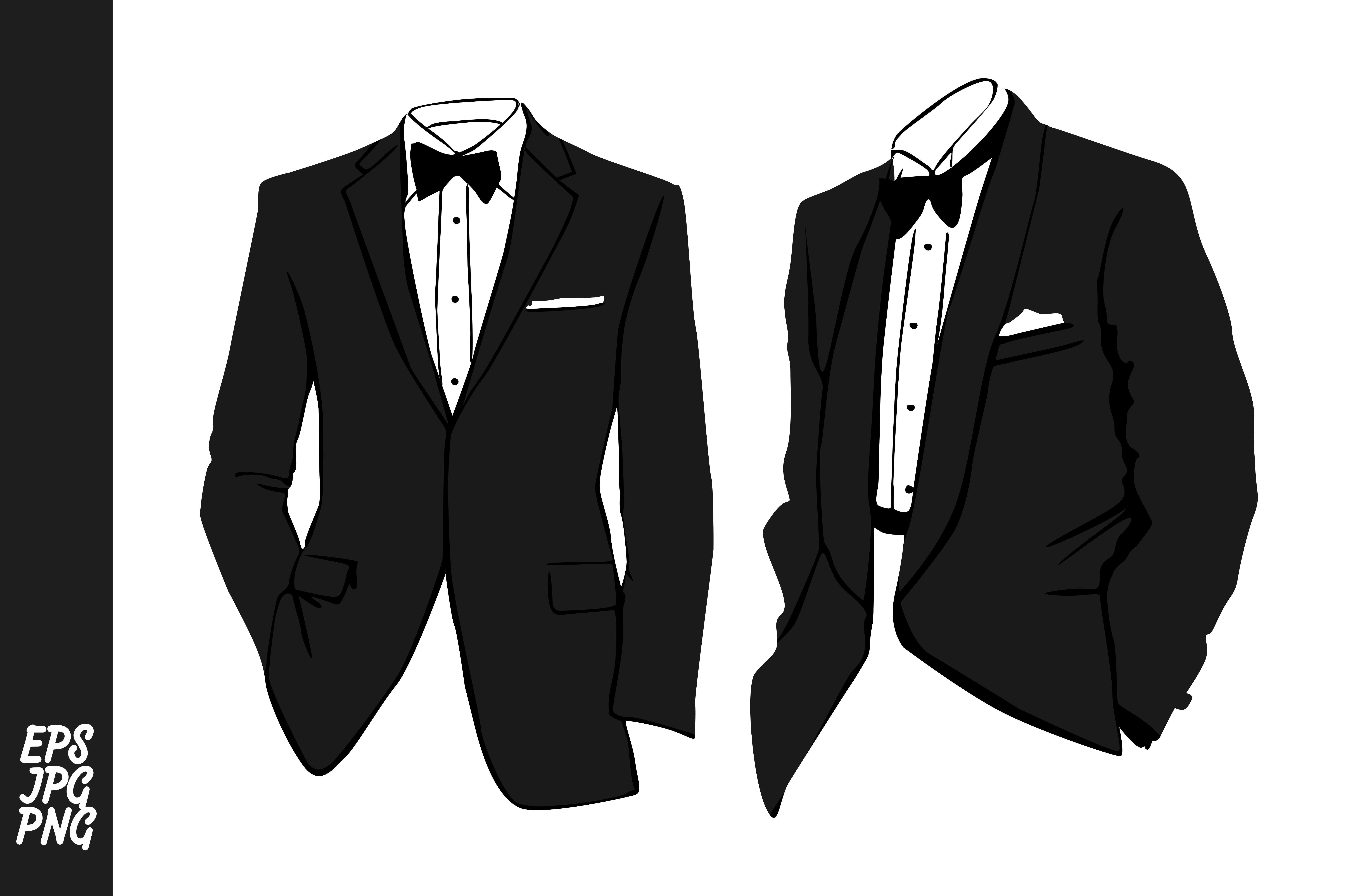 Download Free Tuxedo Suit Graphic By Arief Sapta Adjie Creative Fabrica for Cricut Explore, Silhouette and other cutting machines.