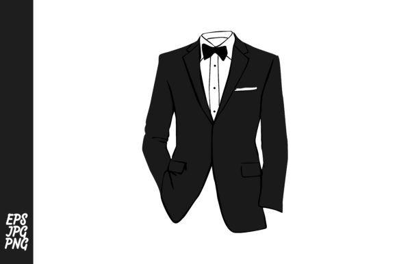 Print on Demand: Tuxedo Suit Vector PNG Gráfico Crafts Por Arief Sapta Adjie