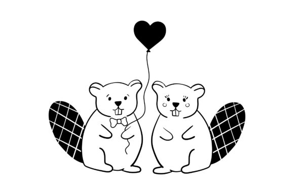 Download Free Lover Beavers Svg Cut File By Creative Fabrica Crafts Creative for Cricut Explore, Silhouette and other cutting machines.