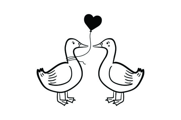 Lover Ducks Valentine's Day Craft Cut File By Creative Fabrica Crafts - Image 2