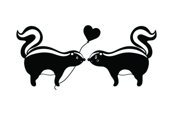 Lover Skunks Valentine's Day Craft Cut File By Creative Fabrica Crafts - Image 2