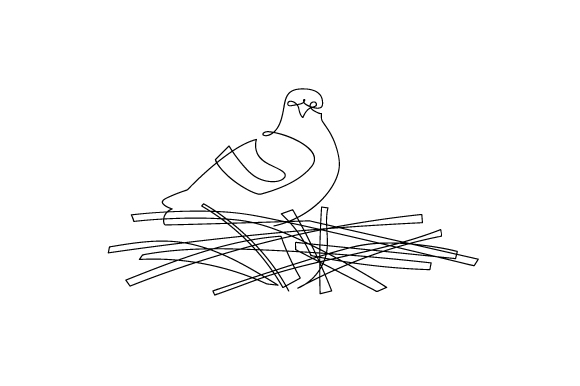 Download Free Pigeon Sitting In Nest In Line Art Style Svg Cut File By for Cricut Explore, Silhouette and other cutting machines.
