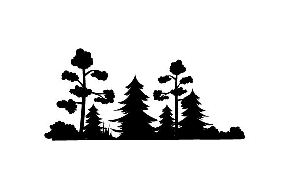 Download Free Forest Silhouette Svg Cut File By Creative Fabrica Crafts for Cricut Explore, Silhouette and other cutting machines.