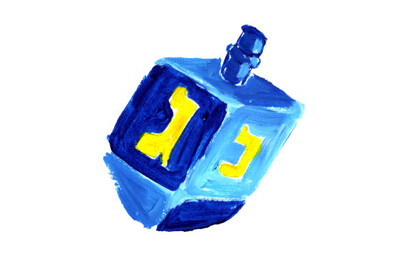 Dreidel in Gouache Style Religious Craft Cut File By Creative Fabrica Crafts
