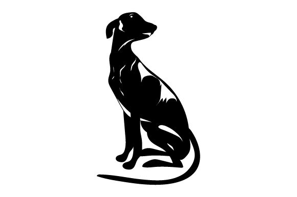 Greyhound Sitting Dogs Craft Cut File By Creative Fabrica Crafts - Image 2