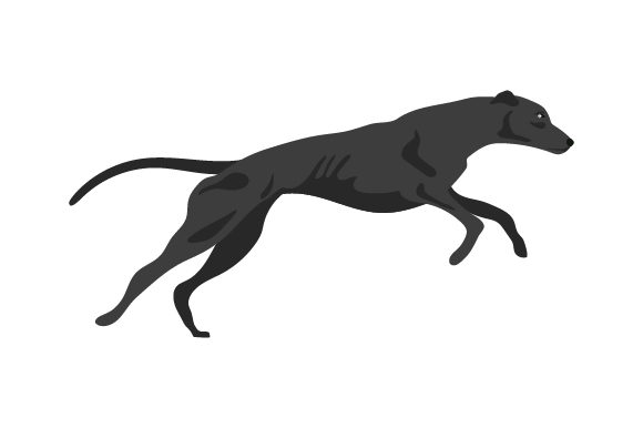 Greyhound Running Dogs Craft Cut File By Creative Fabrica Crafts - Image 1