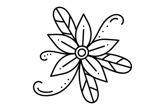Flower Tattoo Tattoos Craft Cut File By Creative Fabrica Crafts