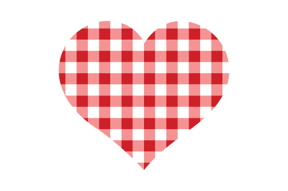 Plaid Heart San Valentín Archivo de Corte Craft Por Creative Fabrica Crafts