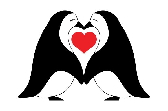 Penguin Love Valentine's Day Craft Cut File By Creative Fabrica Crafts