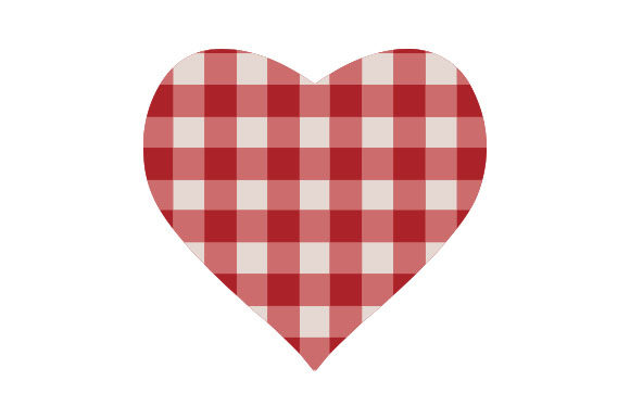 Plaid Heart Valentine's Day Craft Cut File By Creative Fabrica Crafts