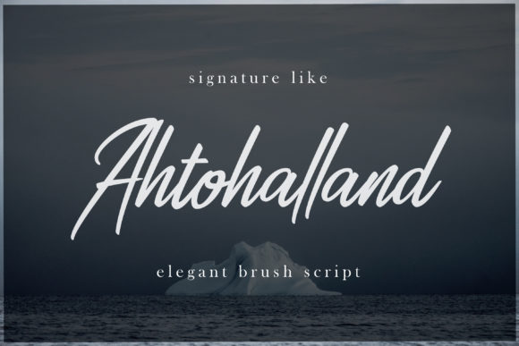 Print on Demand: Ahtohalland Script & Handwritten Font By great19