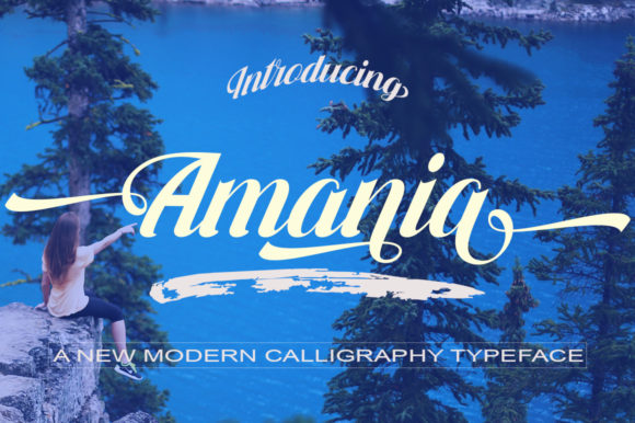 Print on Demand: Amania Script & Handwritten Font By faisal_Alfaraby