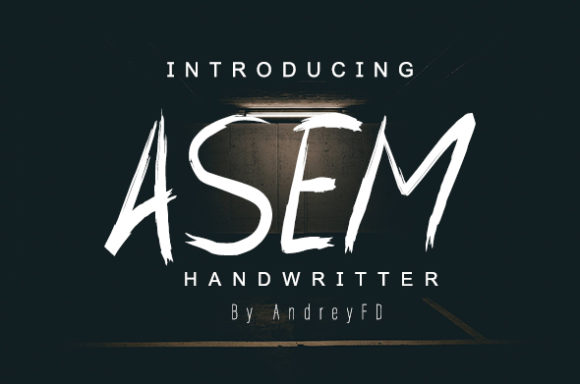 Print on Demand: Asem Script & Handwritten Font By andreyfontdesign