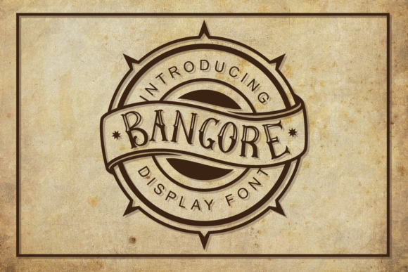 Print on Demand: Bangore Display Font By ToniStudio - Image 1