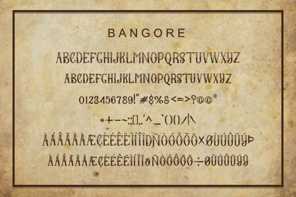 Print on Demand: Bangore Display Font By ToniStudio - Image 5