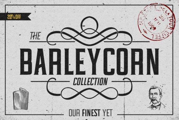 Print on Demand: Barleycorn Serif Font By denestudios