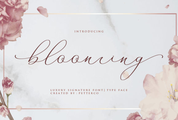 Print on Demand: Blooming Script & Handwritten Font By Petterco