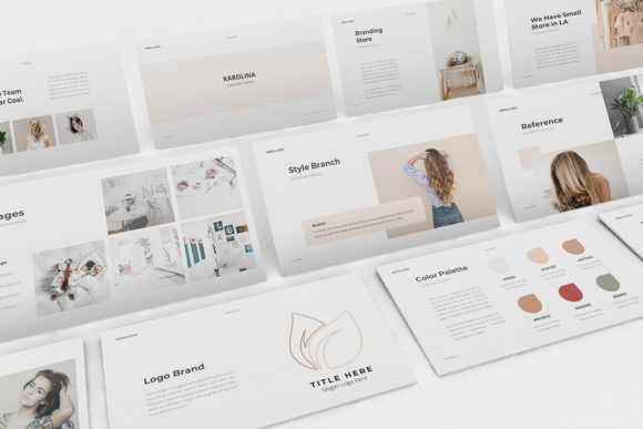 Branding Guideline Powerpoint Graphic Presentation Templates By formatikastd