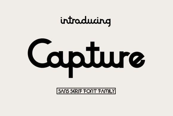 Print on Demand: Capture Sans Serif Font By BELOVE STUDIO