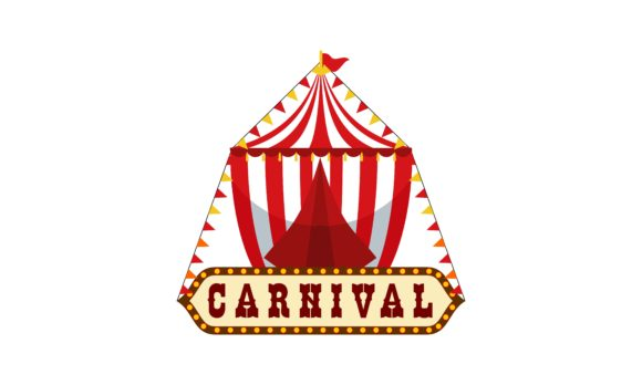 Download Free Carnival Circus Sign Fun Amusement Logo Graphic By Deemka Studio for Cricut Explore, Silhouette and other cutting machines.