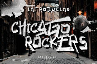 Print on Demand: Chicago Rockers Display Font By aldedesign