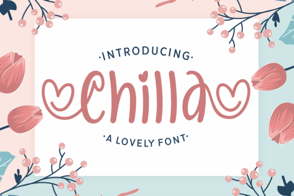 Print on Demand: Chilla Display Font By Dani (7NTypes)