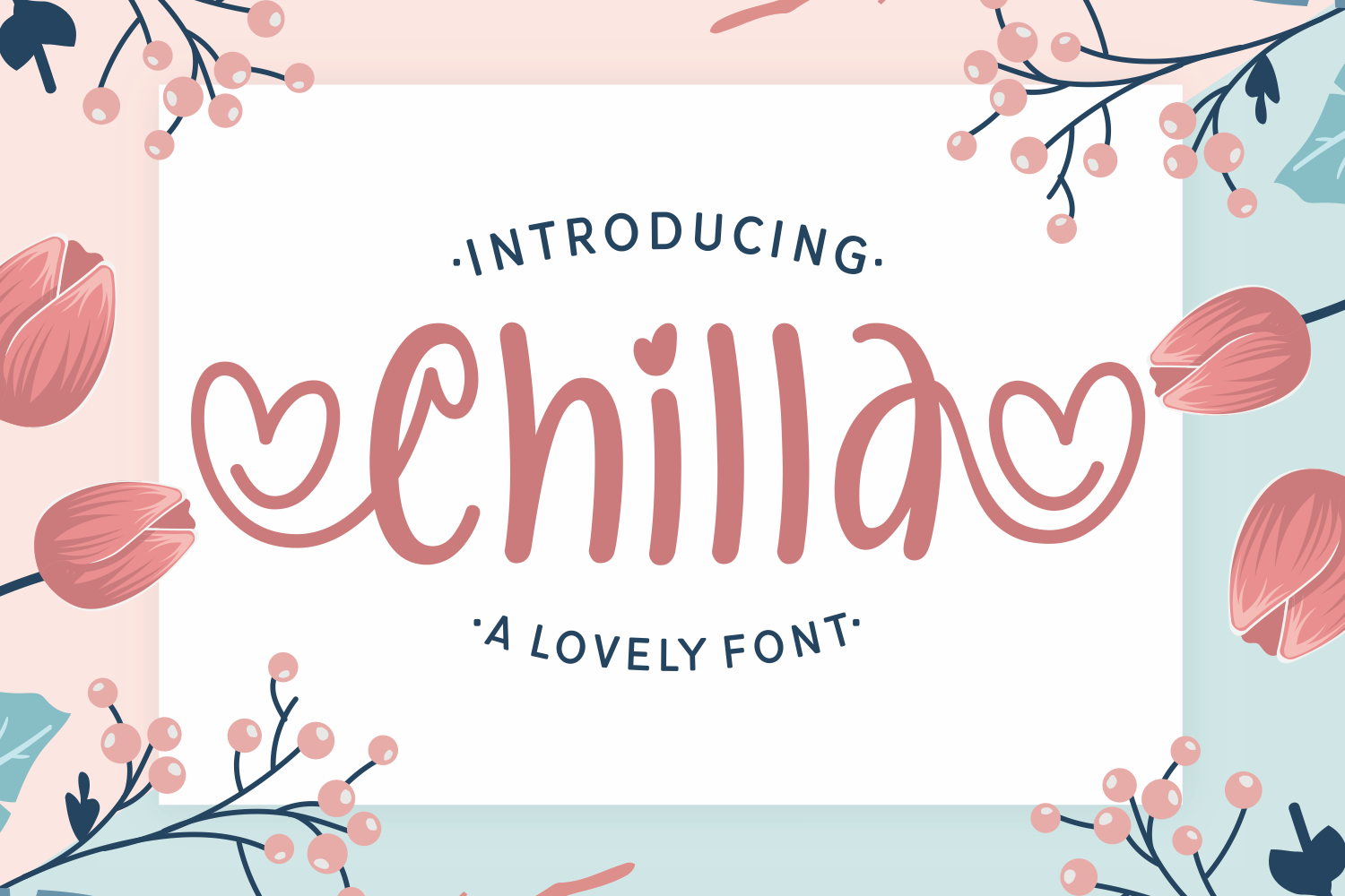 Download Free Chilla Font By Dani 7ntypes Creative Fabrica for Cricut Explore, Silhouette and other cutting machines.