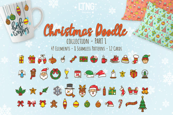 Christmas Doodle Graphic Element Part Graphic Objects By luluimanda82