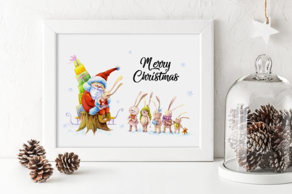 Download Free Christmas Greeting Card Template Graphic By Elephantart Creative Fabrica for Cricut Explore, Silhouette and other cutting machines.